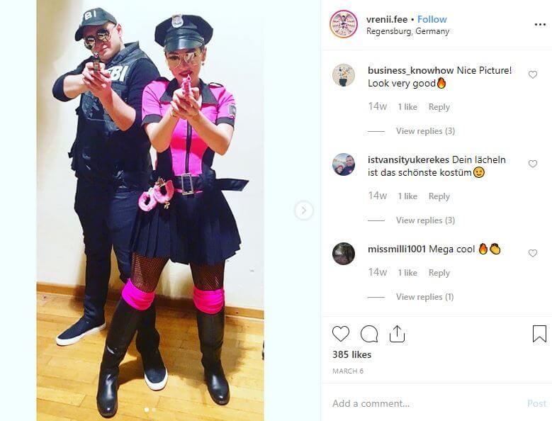 disfraces de policia pareja despedida conjunta