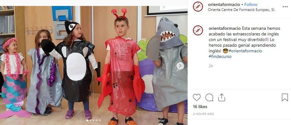 disfraces festivales fin de curso animales marinos