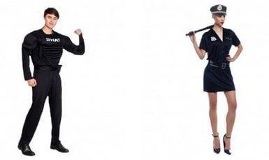 disfraces pareja policia letsgofiesta despedidas