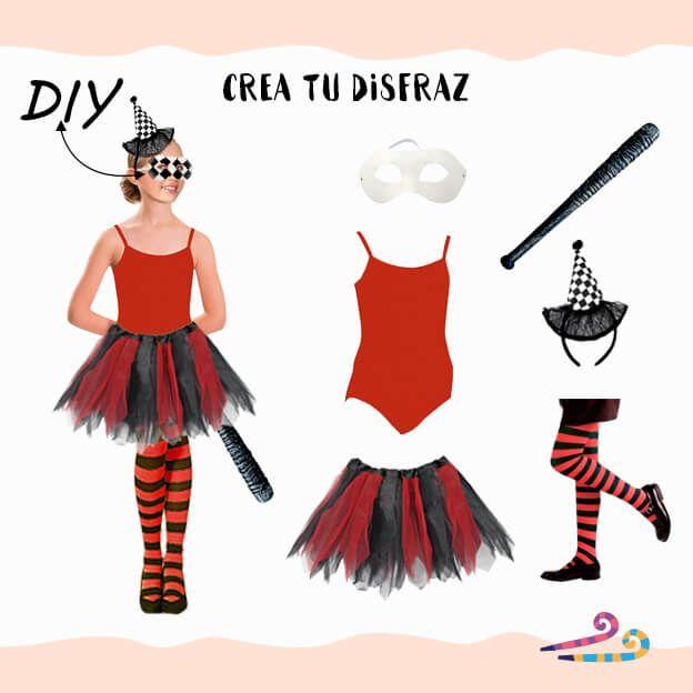disfraz arlequin condisfraz arlequin con maillot rojo tirantes maillot rojo tirantes