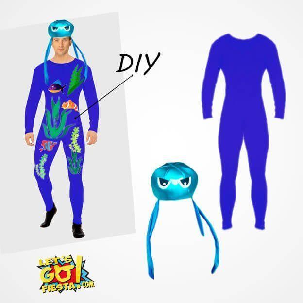 disfraz fondo marino con mono maillot