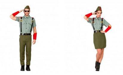 disfraz militares legionarios pareja