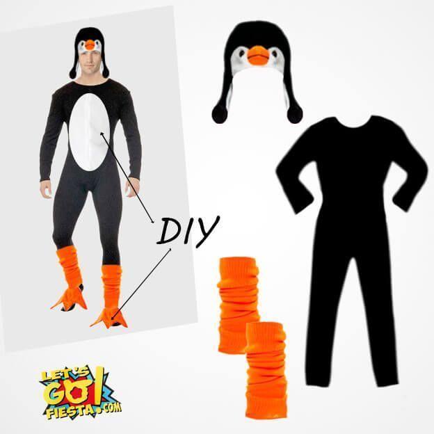disfraz pinguino casero con mono maillot