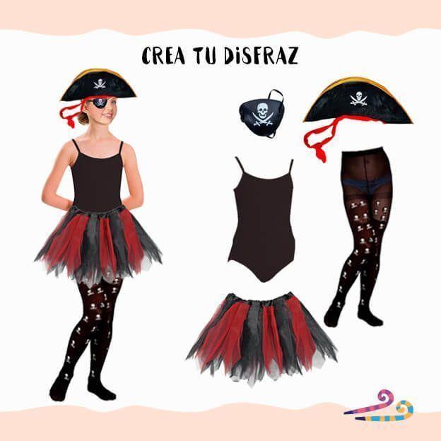 disfraz pirata con maillot negro