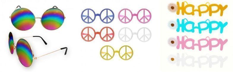 gafas hippies disfraz