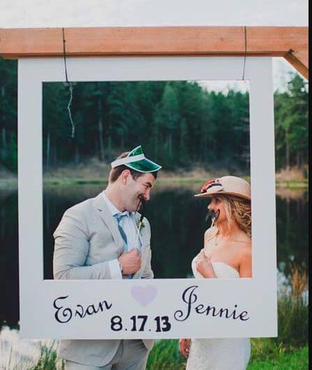 marco photocall bodas sencillo