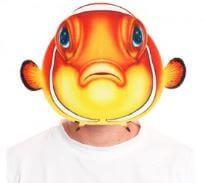 mascara pez disfraz
