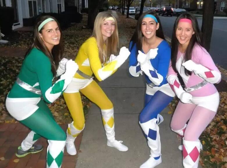 monos maillot colores disfraces power ranger casero carnaval caseros