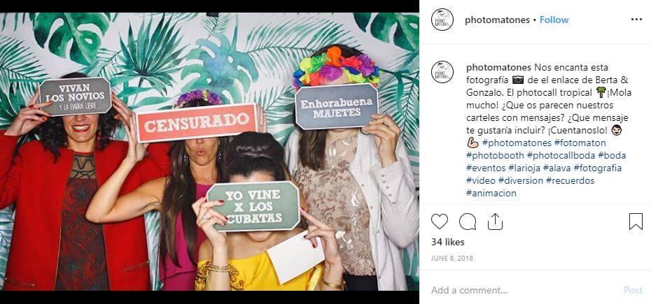 photomatones carteles gracioso tropical
