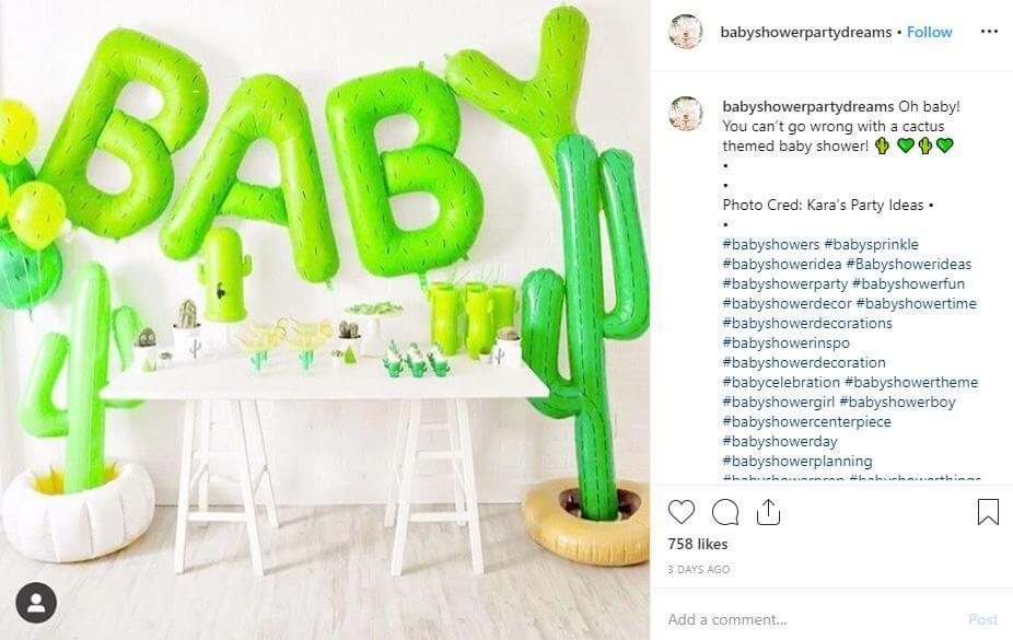 baby shower original tematico