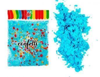 confetti azul para globos