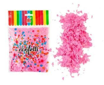 confetti rosa para globos
