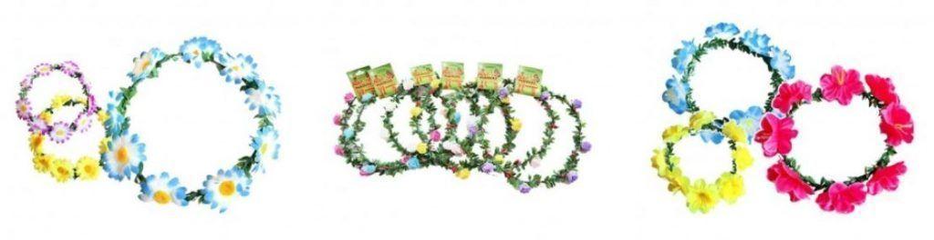coronas flores hippies cabeza