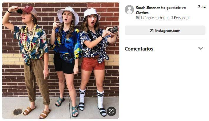 disfraces turistas verano