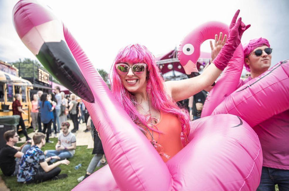 disfraces verano verbena flamenco rosa