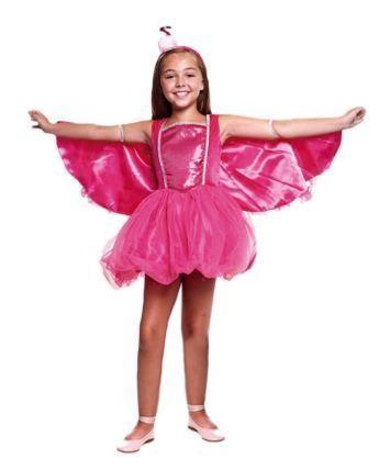 Disfraz flamenco rosa niña