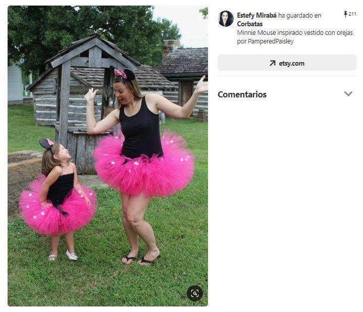 disfraz minie con tutu y maillot madre e hija