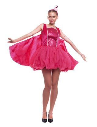 disfraz flamenco rosa mujer