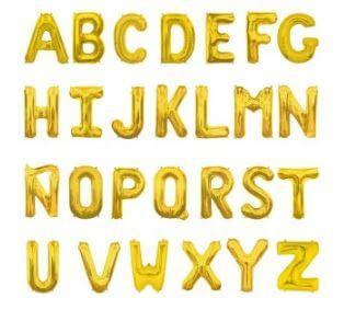 globos letra oro