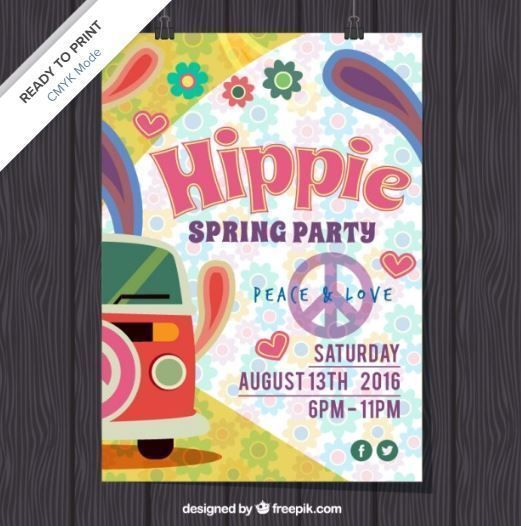 invitacion fiesta hippie