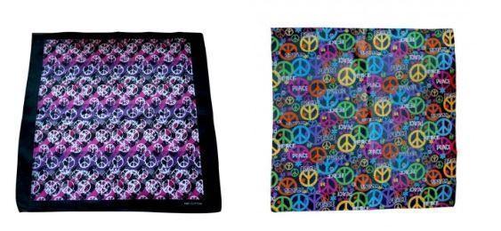 pañuelos hippies simbolo paz