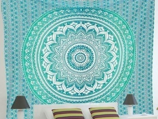 tela mandala decoracion hippie