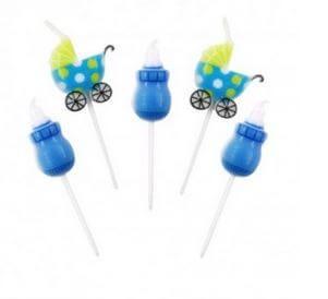 velas azules baby shower