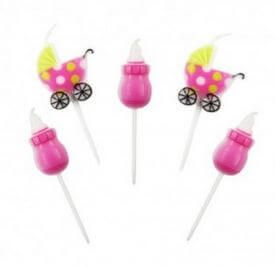 velas rosas baby shower