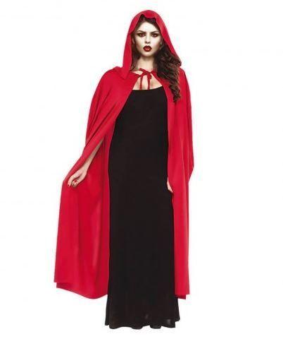 capa roja con capucha disfraz
