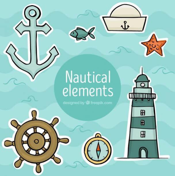 decoracion elementos marineros