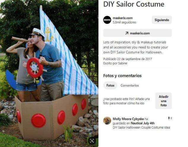 decoracion fiesta marinera barco carton
