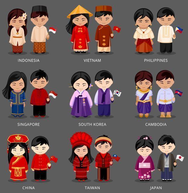 disfraces orientales pareja