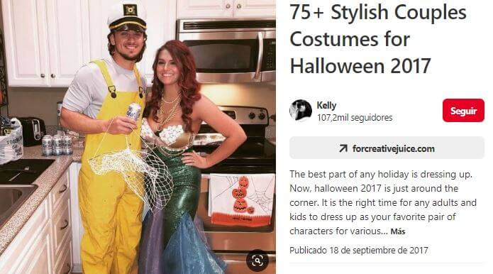 disfraz en pareja pescador y sirena