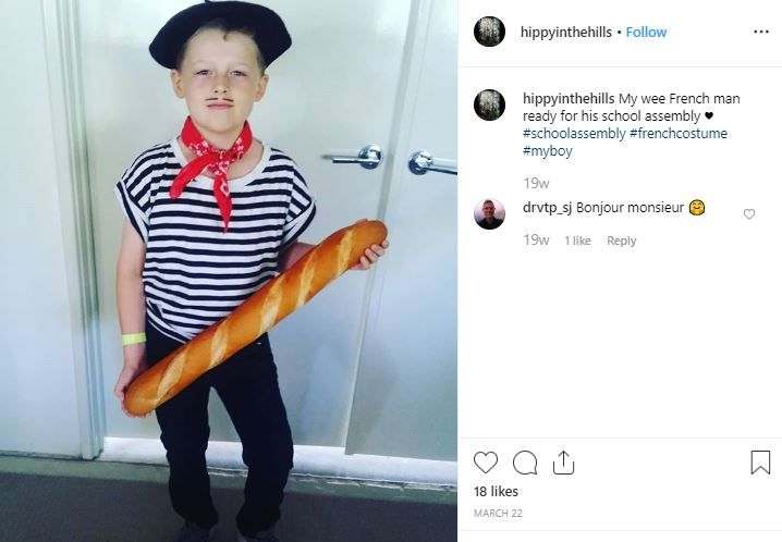 disfraz frances niño