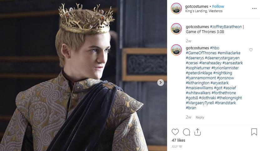 disfraz joffrey juego tronos