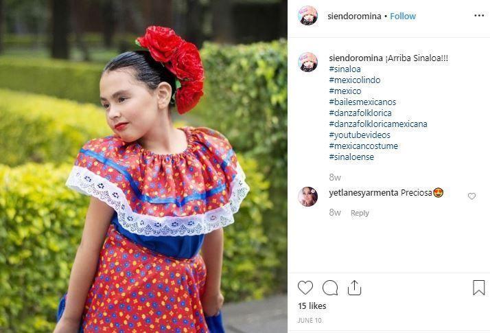 disfraz mexicana niña