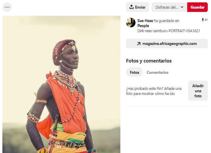 inspiracion disfraz africano pinterest