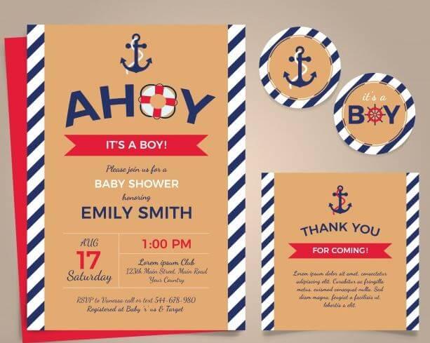 invitaciones fiesta marinera
