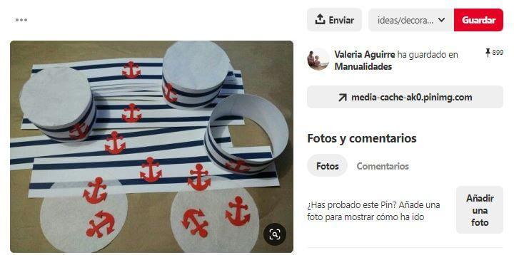 manualidades gorro marinero