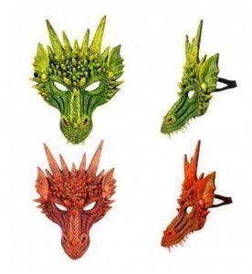 mascara dragon disfraz