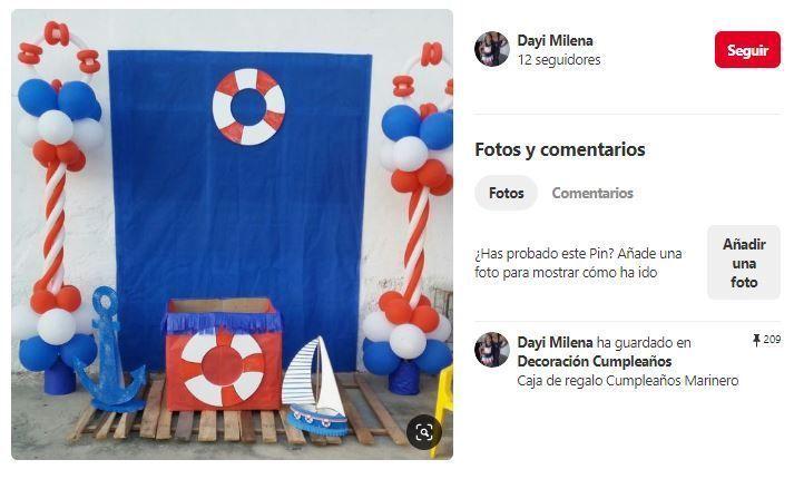 photocall para fiesta marinera