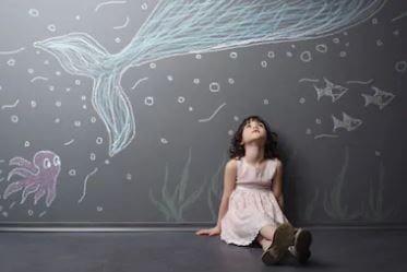 pintar pared juego infantil
