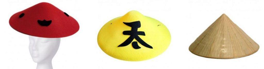 sombreros chinos disfraz