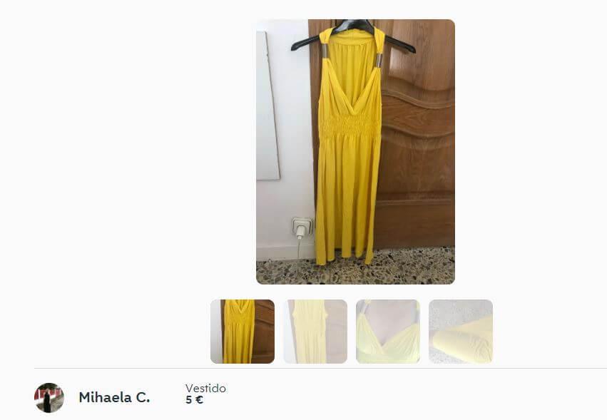 vestido amarillo vaporoso disfraz juego tronos