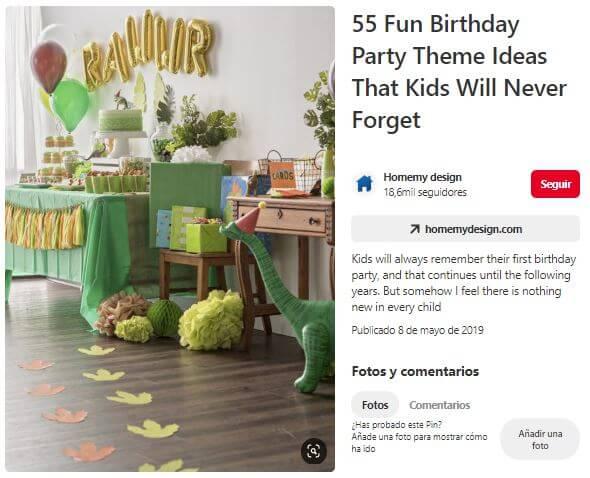 dino fiesta cumpleaños decoracion
