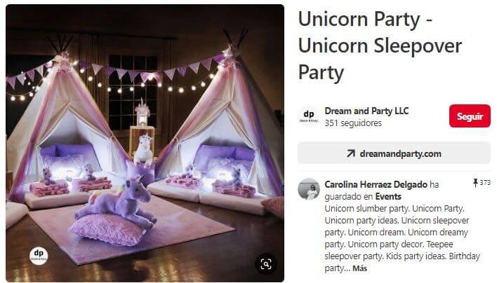 fiesta pijama de unicornios