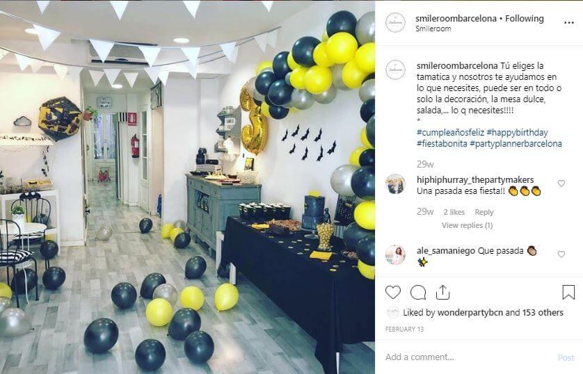 smileroombarcelona espacio fiestas personalizadas