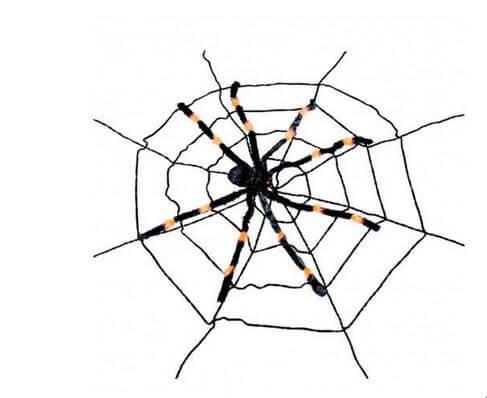 araña telaraña decorativa