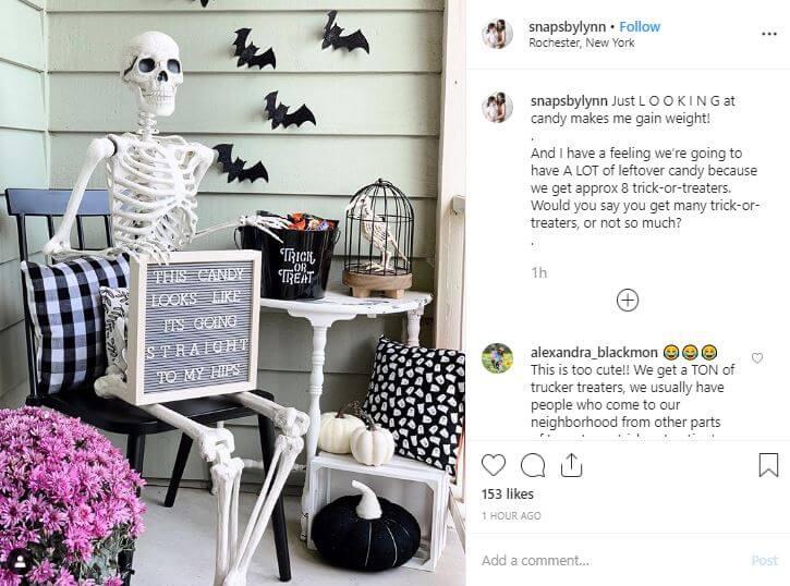 decoracion esqueletos halloween