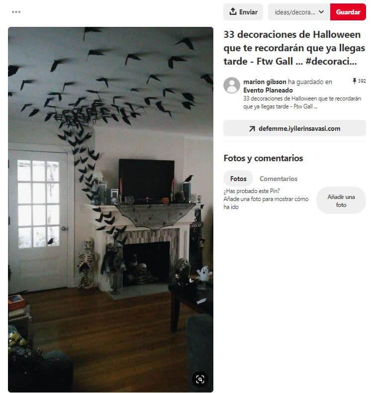 decoracion halloween murcielagos